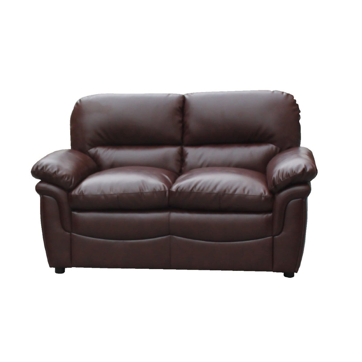 Filton Bonded Faux Leather 2 Seater Sofa Brown