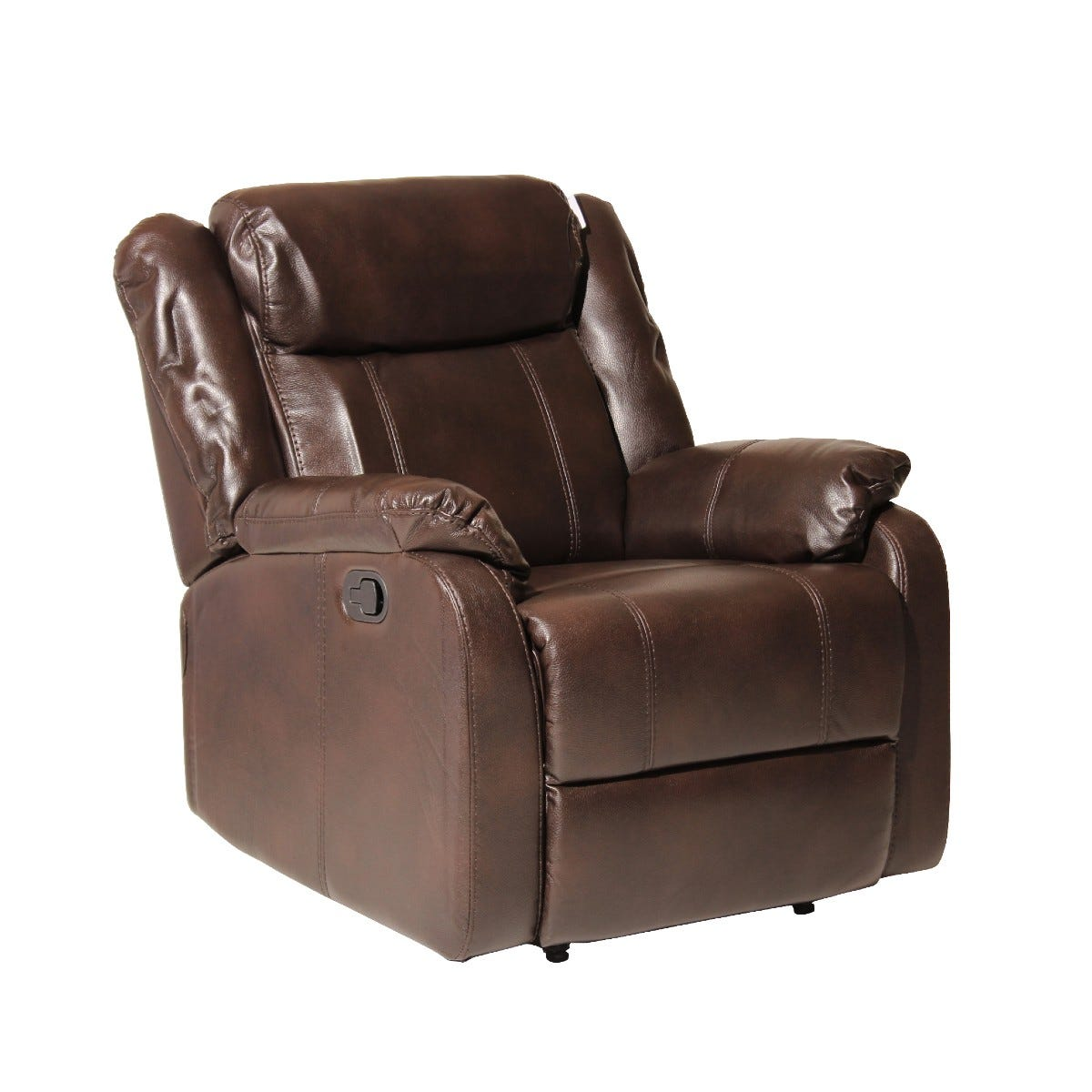 Ledbury Faux Leather Reclining Armchair Brown