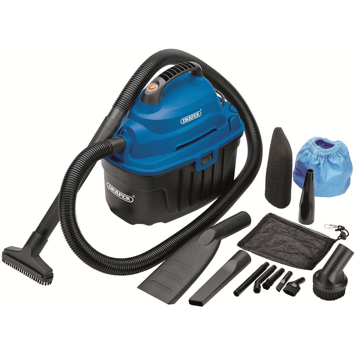Draper 10L Wet and Dry Vacuum Cleaner (1000W) - Blue & Black