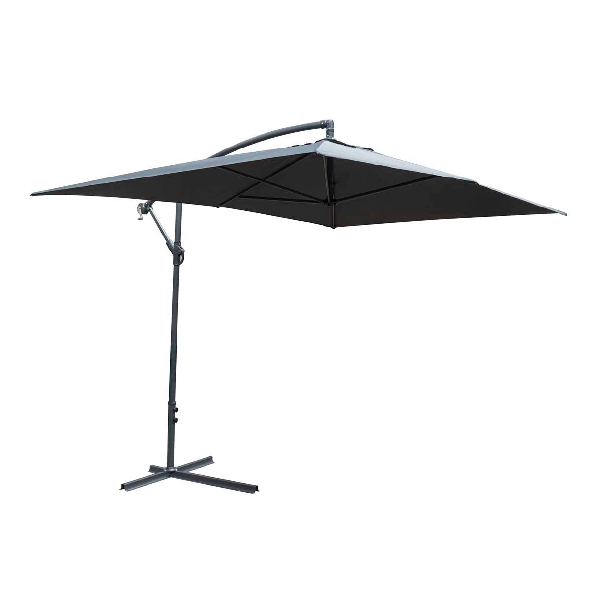 Rowlinson Prestbury Rectangular Overhang Parasol (base not included) - Grey