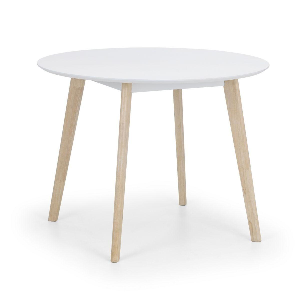 Julian Bowen Casa Round Dining Table White