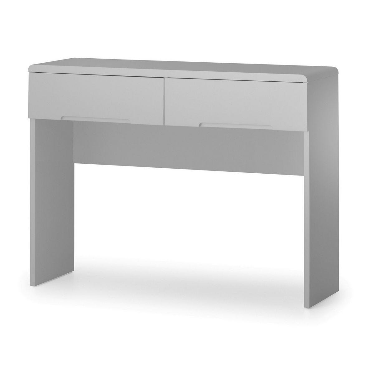 Julian Bowen Manhattan Dressing Table with 2 Drawers Grey