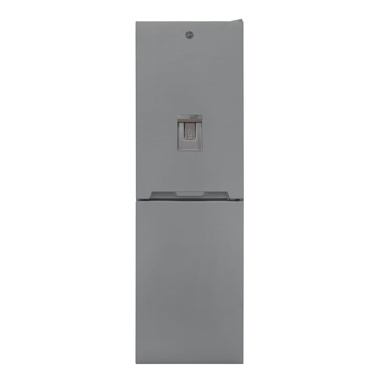 Hoover HOCV1S517FWXK 163L/114L Freestanding Static Fridge Freezer with Water Through The Door - Grey
