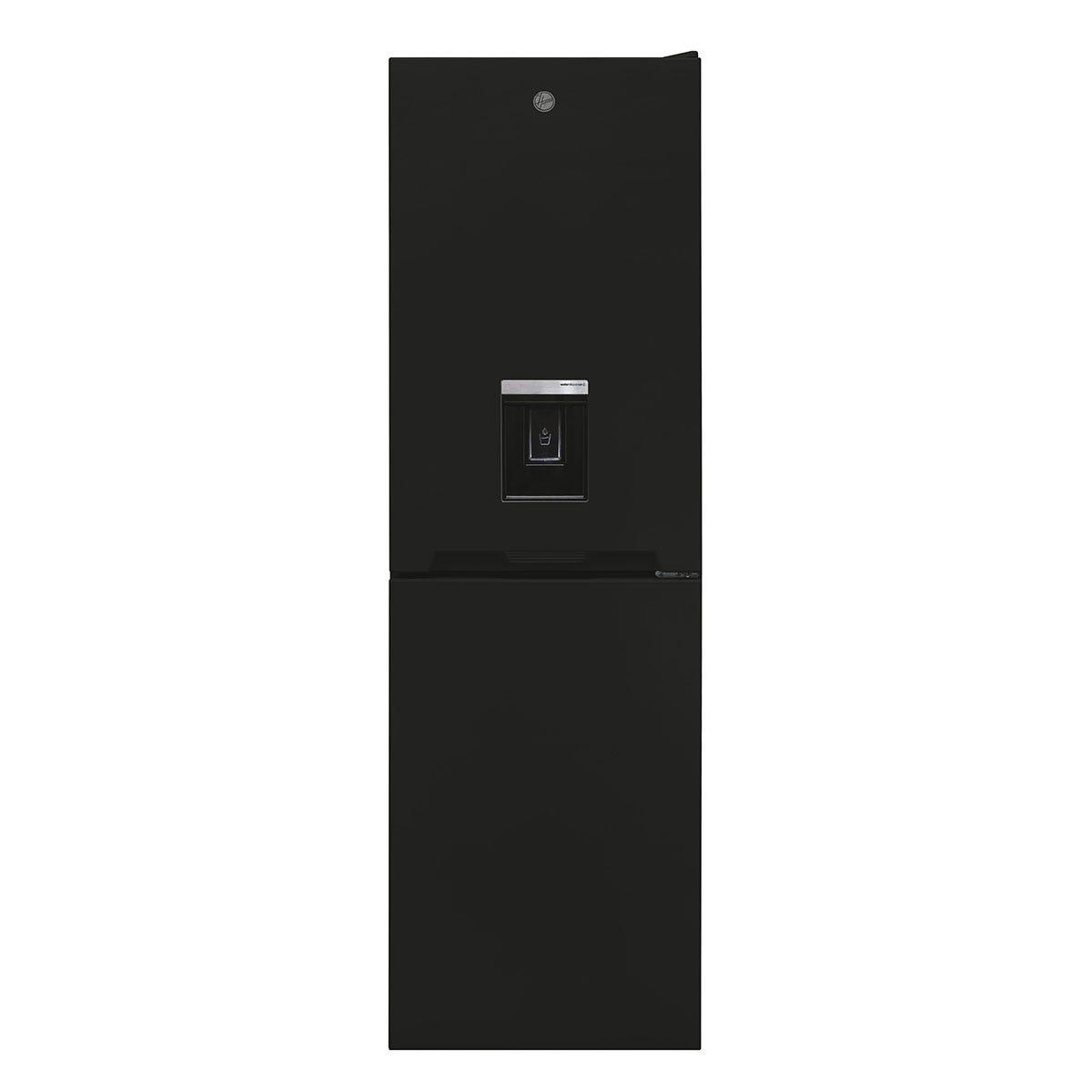 Hoover HOCV1S517FWBK 163L/114L Freestanding Static Fridge Freezer with Water Through The Door - Black