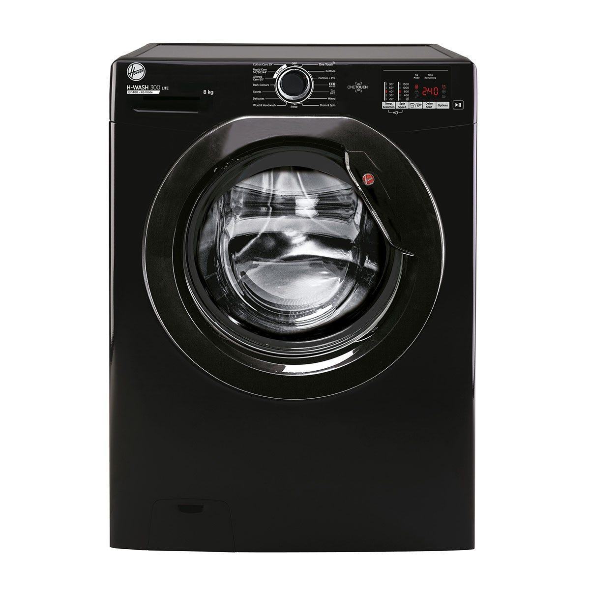 Hoover H3W 582DBBE H-Wash 300 8kg 1500rpm Digital Washing Machine - Black