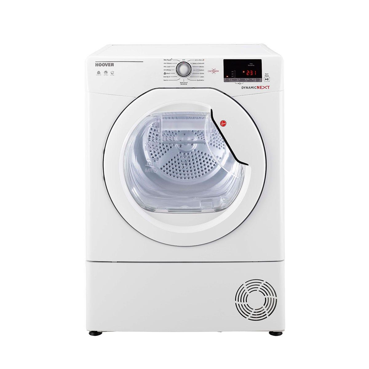 Hoover DXC10DE Dynamic Next 10kg Smart Condenser Tumble Dryer with Aquavision - White