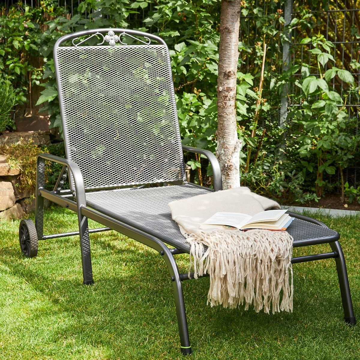 Royal Garden Savoy Sun Lounger - Grey