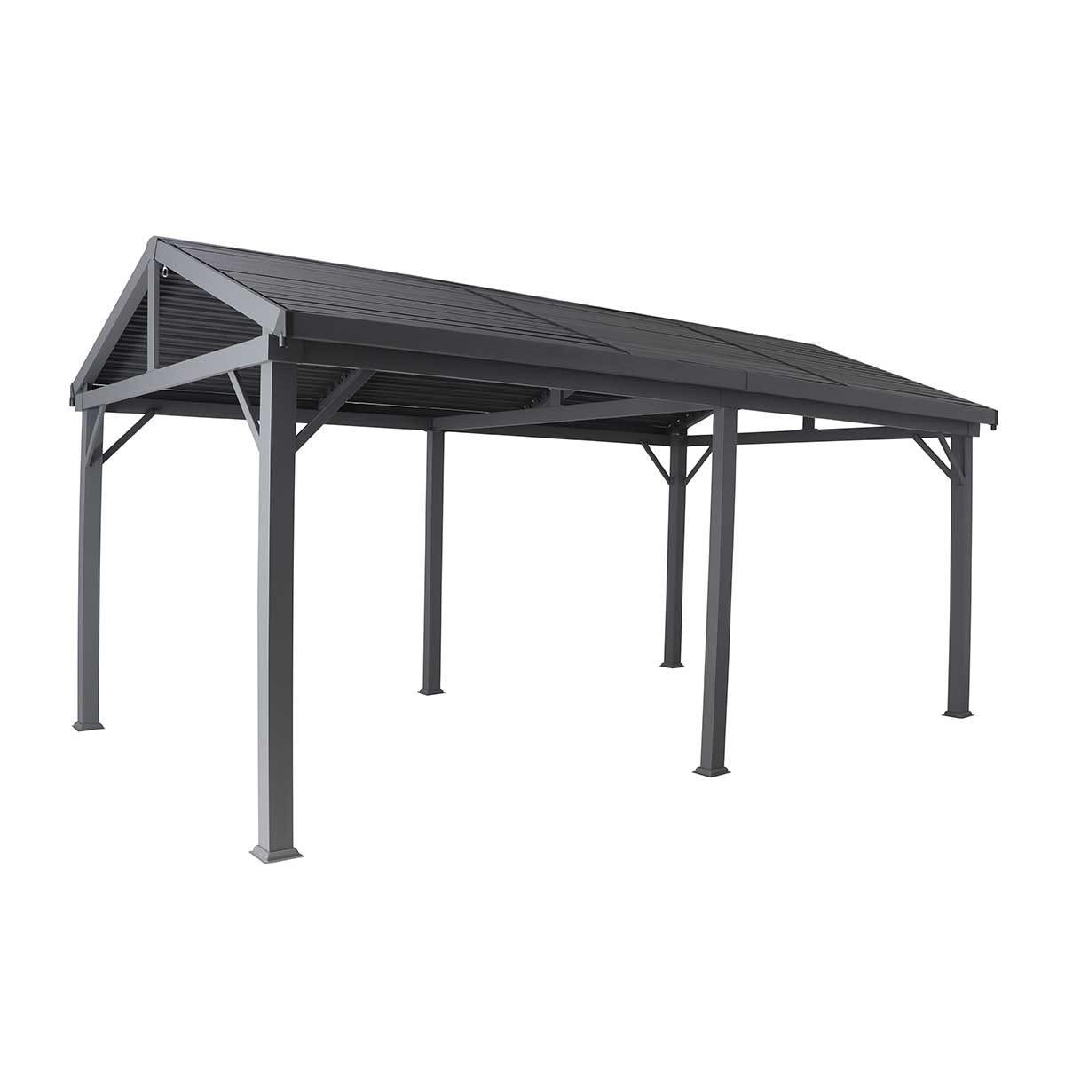 Creador Aluminium 5.3 x 3.2 Apex Roof Slat Gazebo - Anthracite