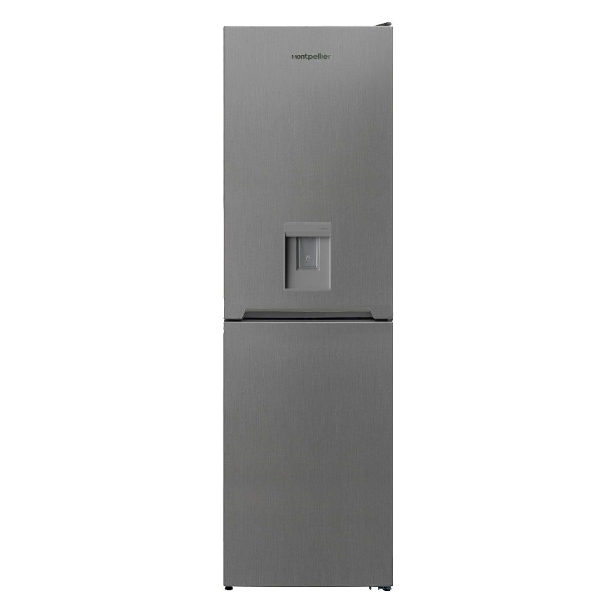 Montpellier MFF185DX 54cm 50/50 Frost Free Fridge Freezer with Drinks Dispenser - Inox