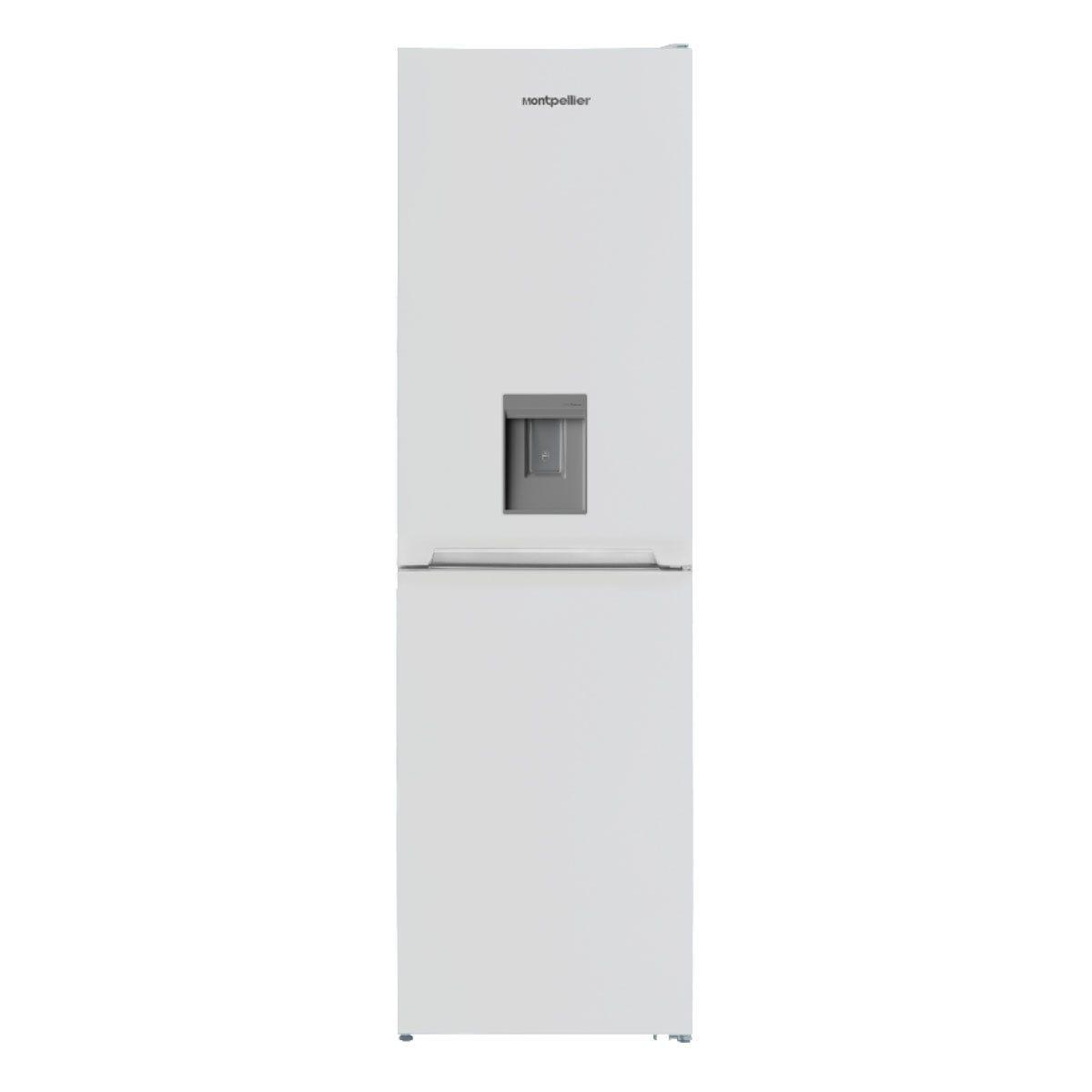 Montpellier MFF185DW 55cm 50/50 Frost Free Fridge Freezer with Water Dispenser - White