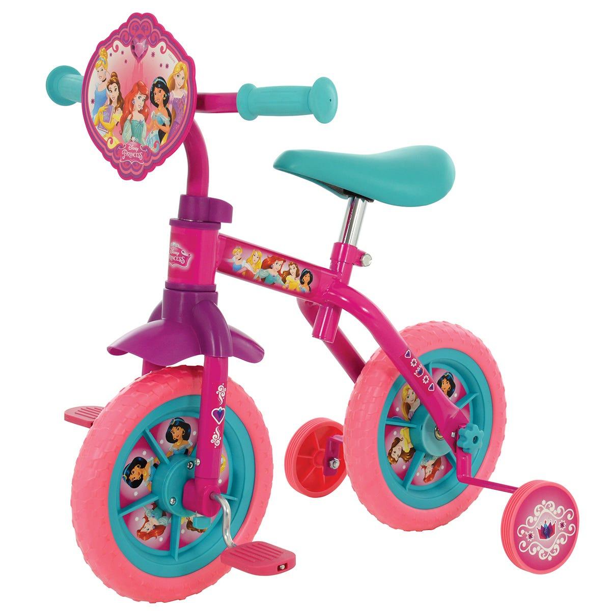 "disney princess 2in1 10"" training bike"
