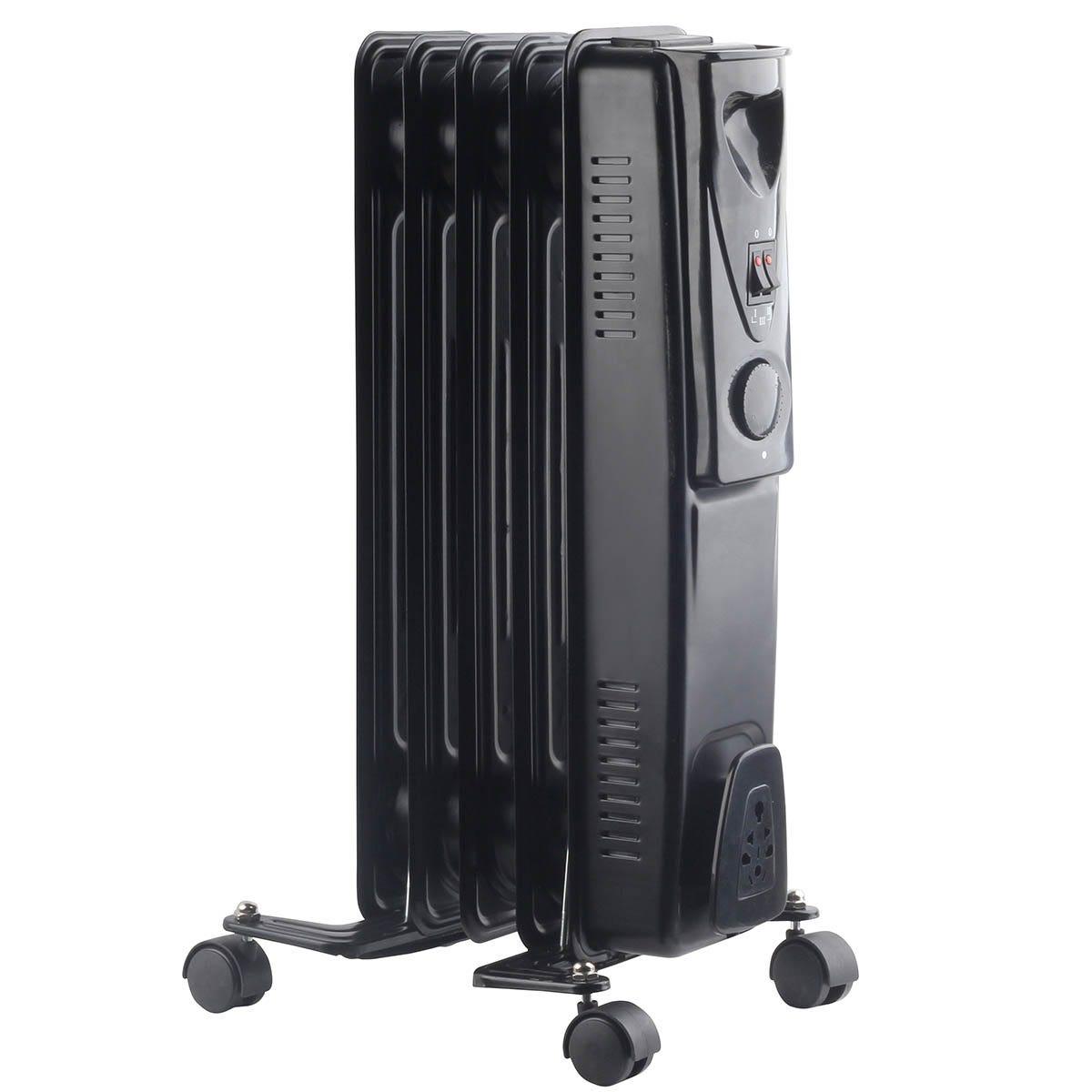 Fine Elements 1KW 5 Fin Oil Heater - Black