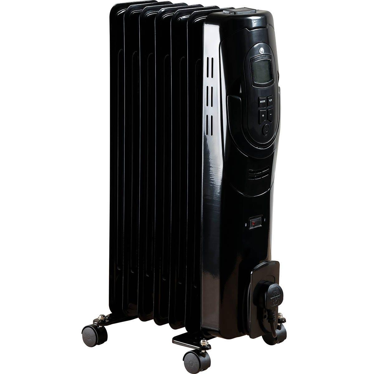 Fine Elements 1.5KW 7 Fin Oil Radiator - Black