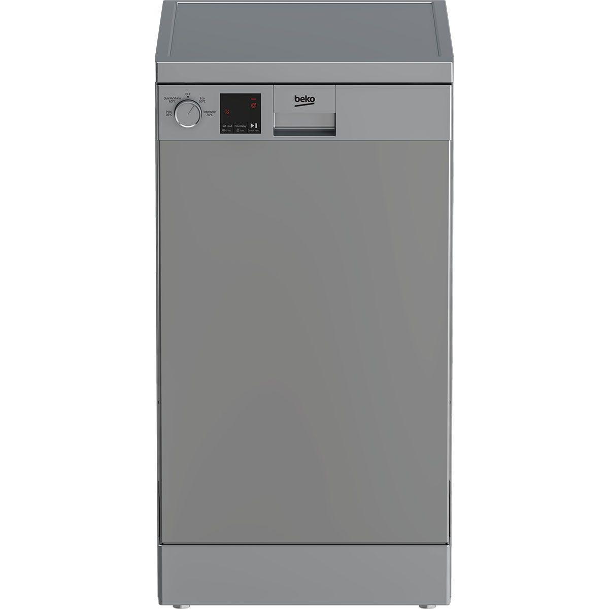 Beko DVS04020S 10 Place Freestanding Slimline 45cm Dishwasher - Silver