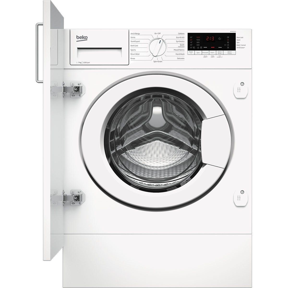 Beko WTIK72111 7kg 1200rpm Integrated Washing Machine - White