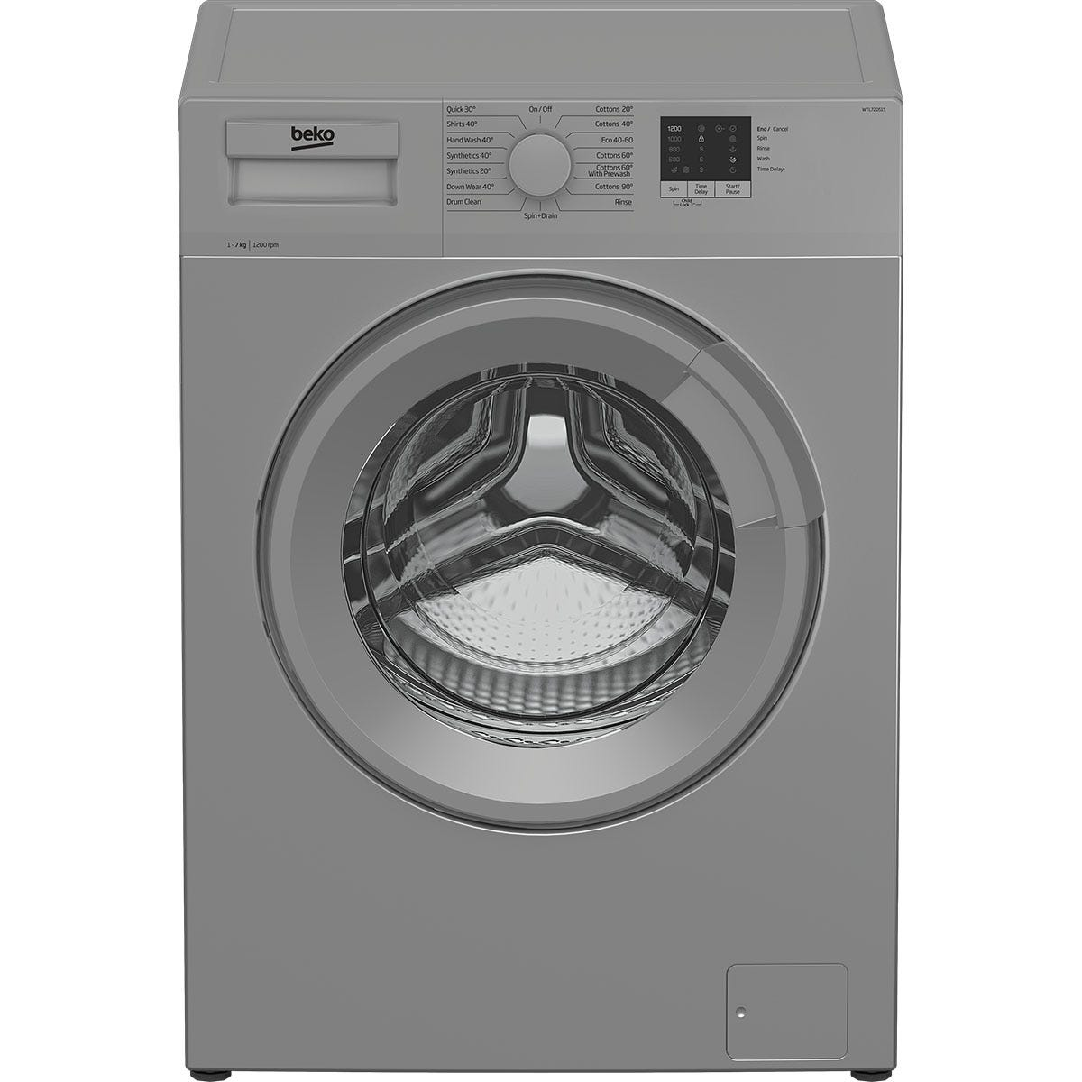 Beko WTL72051S 7kg 1200rpm Freestanding Washing Machine - Silver