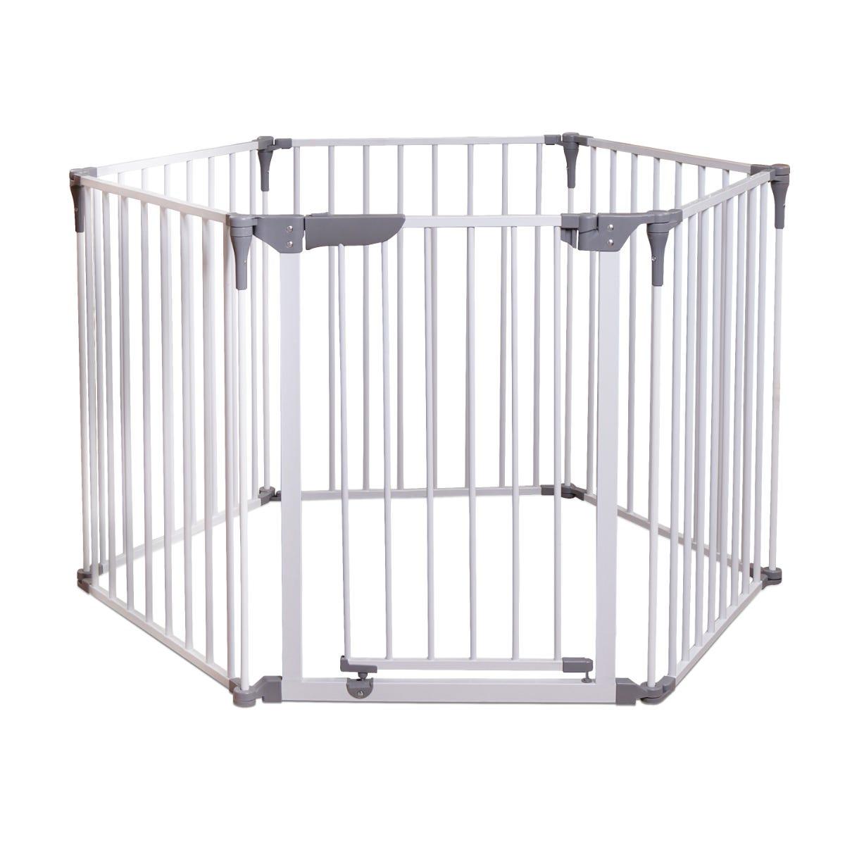 Dreambaby Royal Converta 3 In 1 Metal Playpen, Wide Barrier, Fire Barrier White