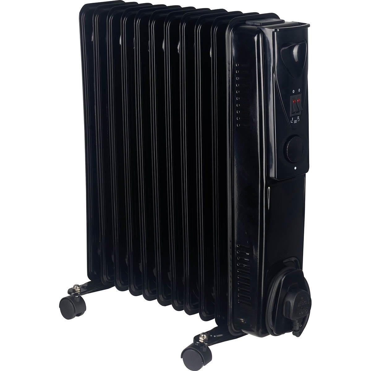 Fine Elements 2.5KW 11 Fin Oil Heater - Black