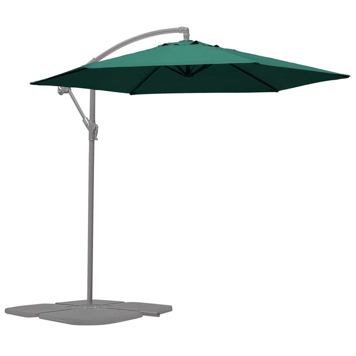 Garden Gear Cantilever Parasol with Cover - Green