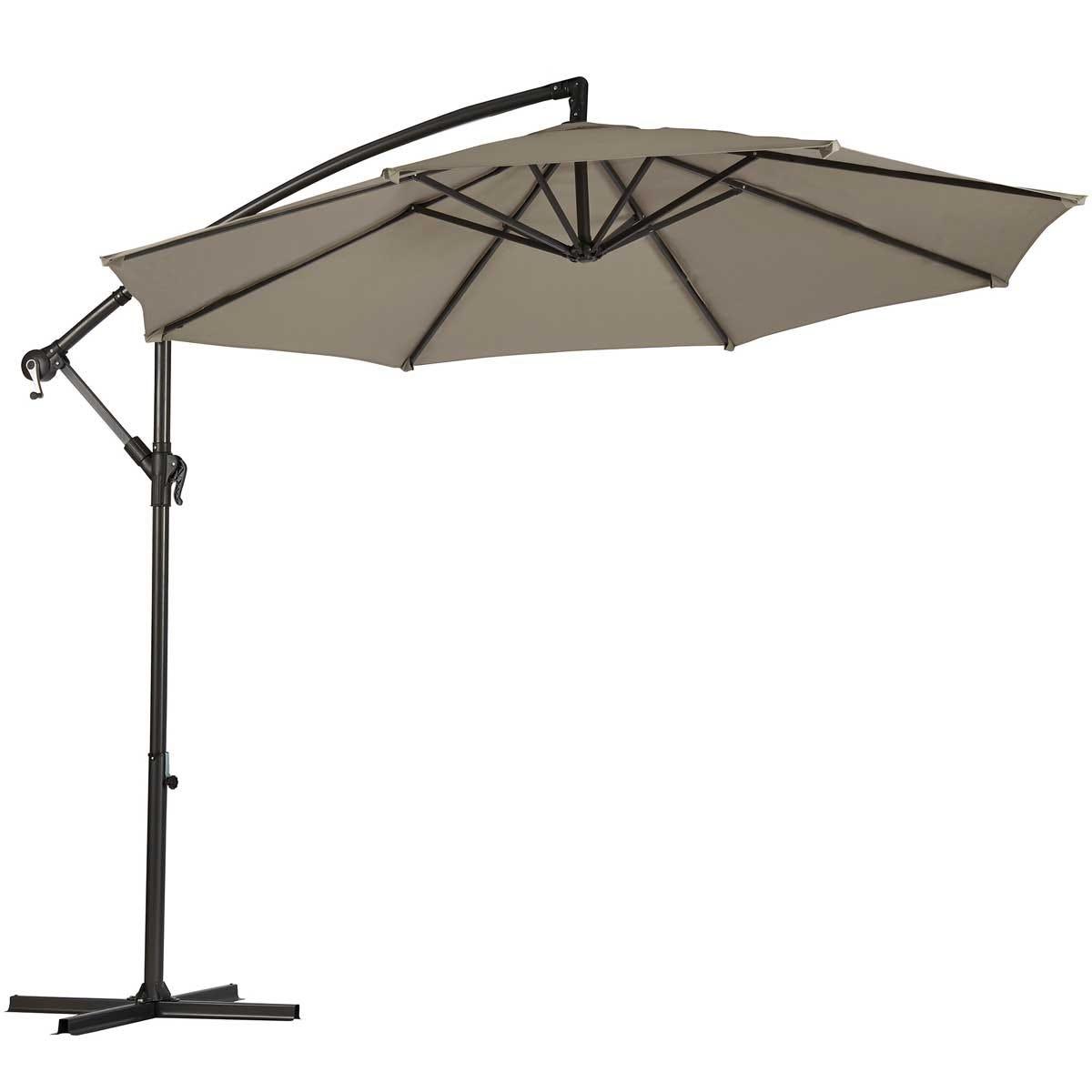 Garden Gear Cantilever Parasol with Cover - Grey