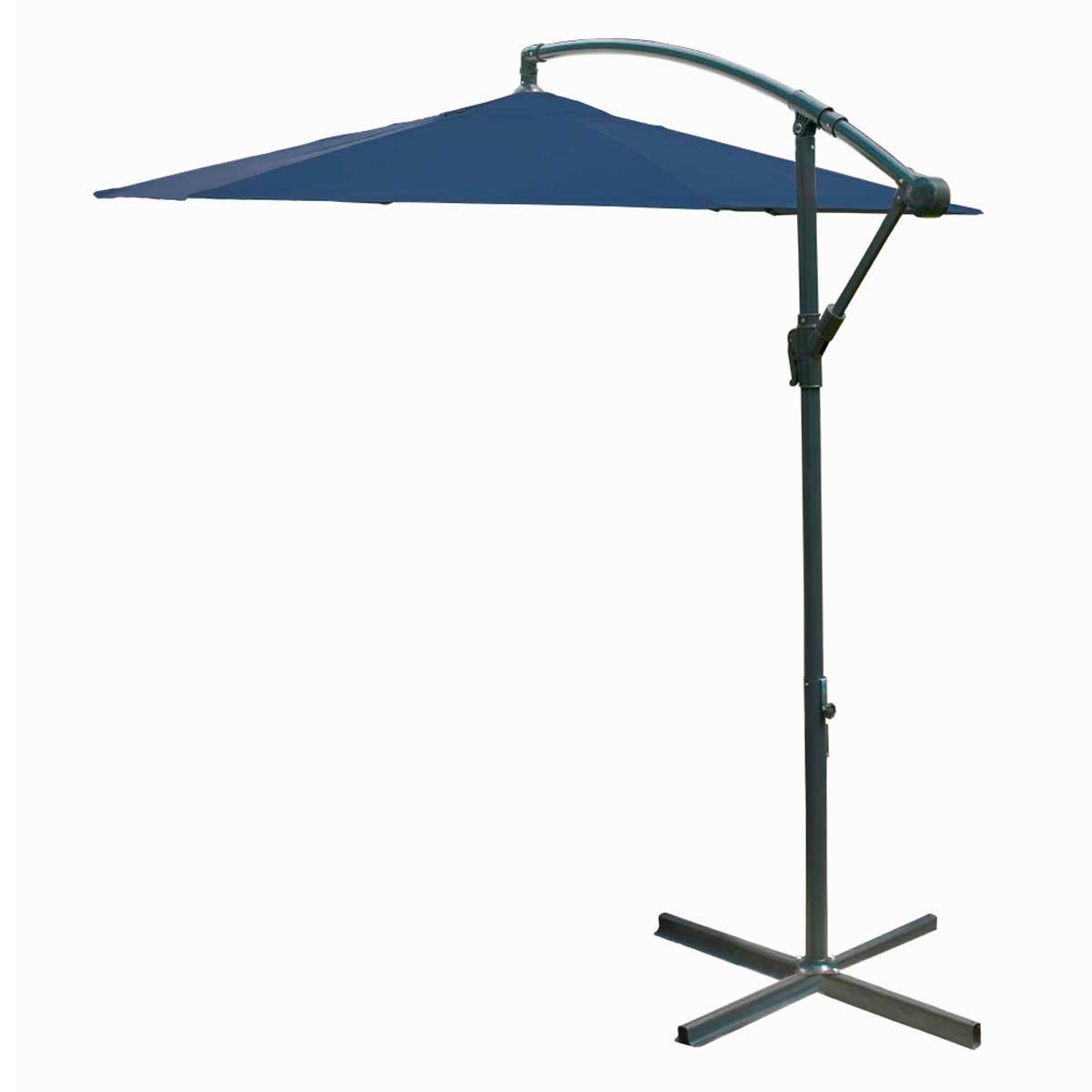 Garden Gear Cantilever Parasol with Cover - Navy