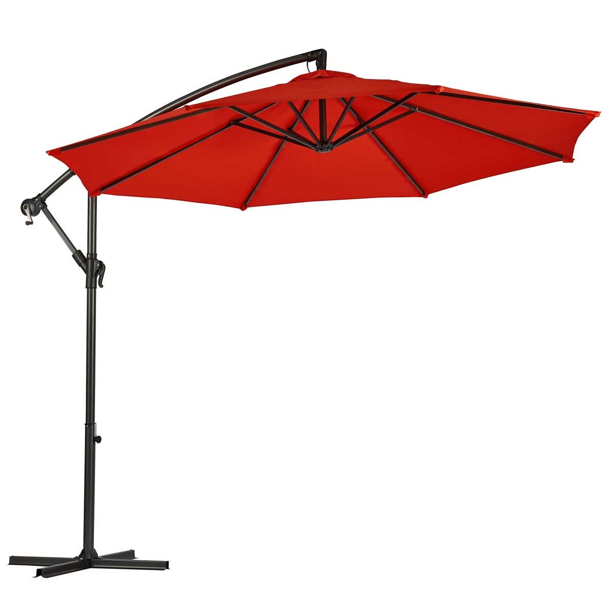 Garden Gear Cantilever Parasol with Cover - Red