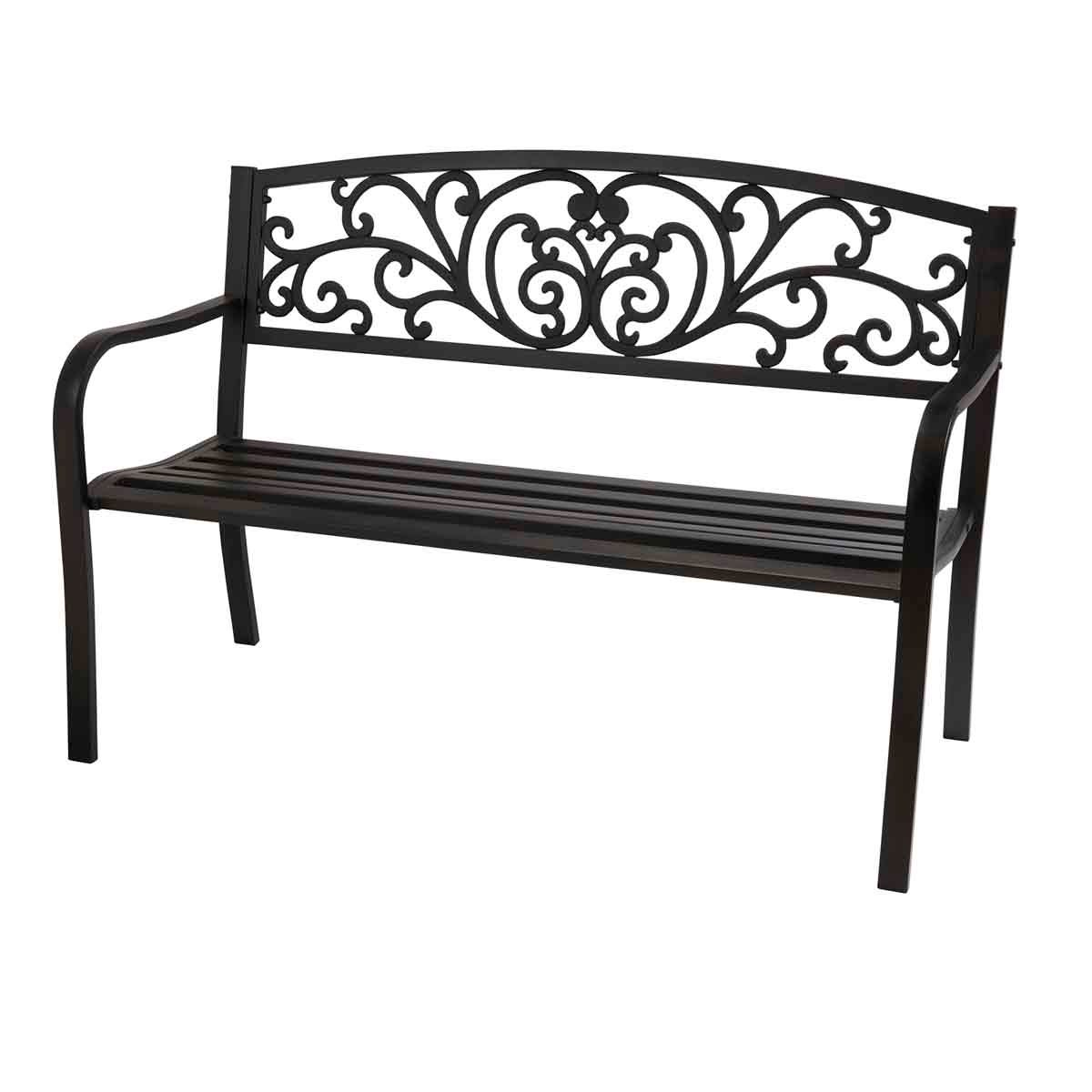 Garden Gear Henley Park Bench - Black