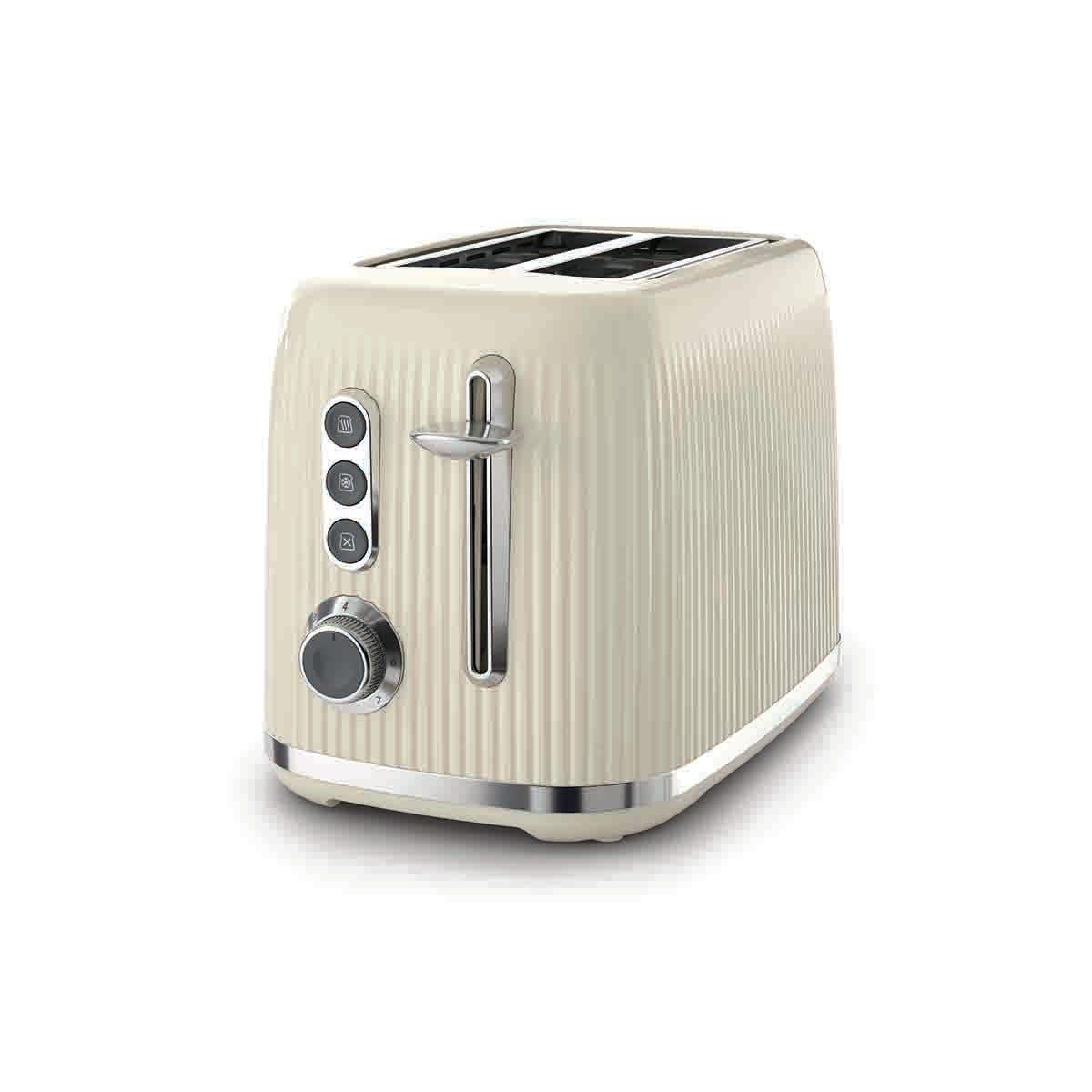 Breville VTR003 Bold 2-Slice Textured Plastic Toaster - Cream