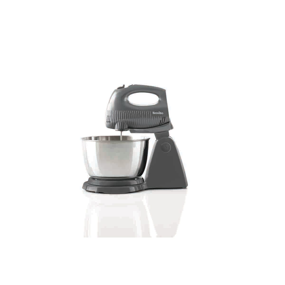 Breville VFM035 Flow Collection 250W Hand and Stand Combo Mixer - Grey and Chrome