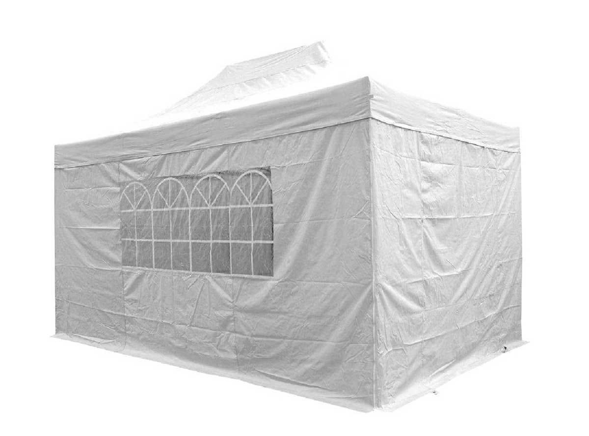 Airwave 3m x 4.5m Pop Up Gazebo with Sides - White