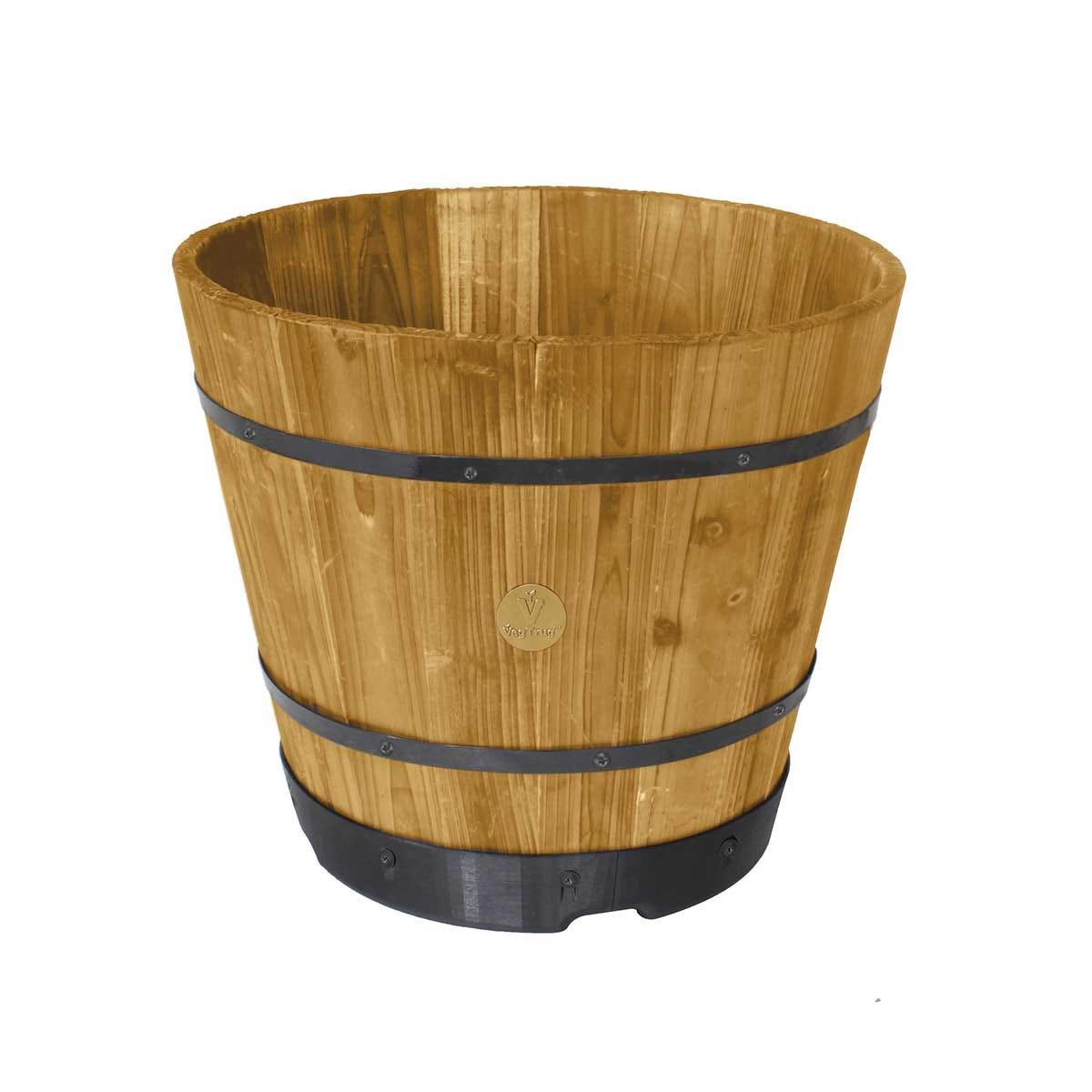 VegTrug Medium 46cm Barrel Planter - Natural