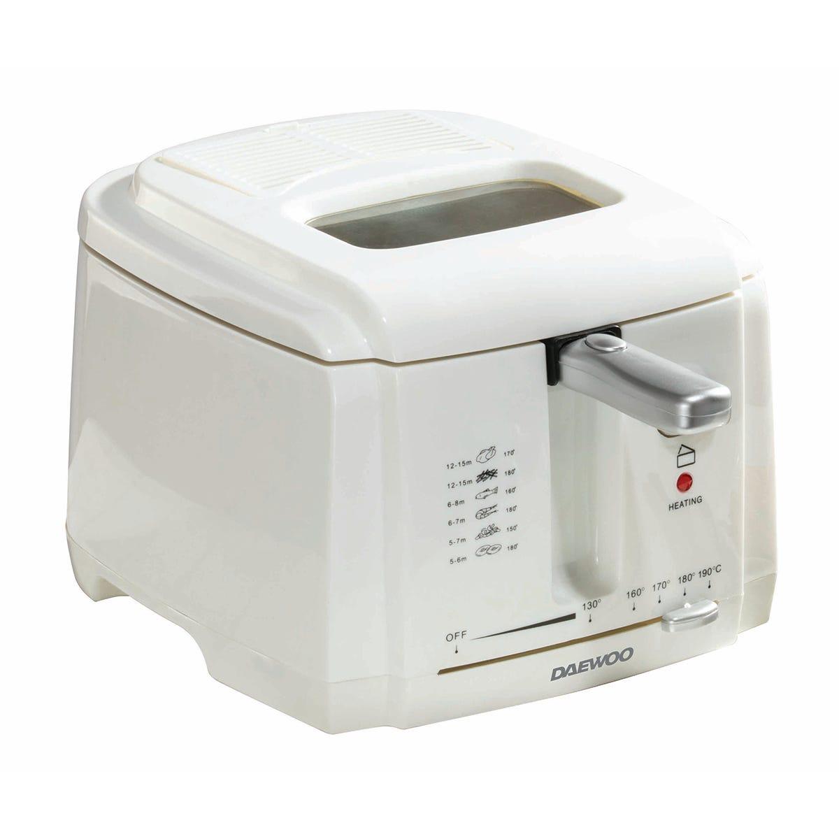 Daewoo SDA1378DS 2L 1500W Deep Fat Fryer - White