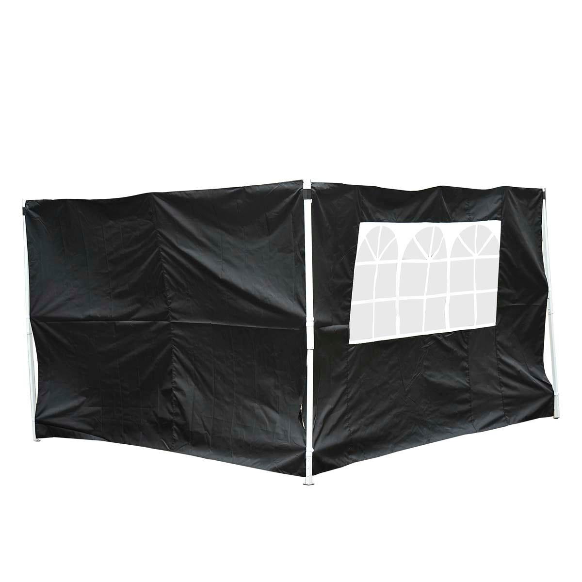 Outsunny 3m Replacement Gazebo Side Panels - Black