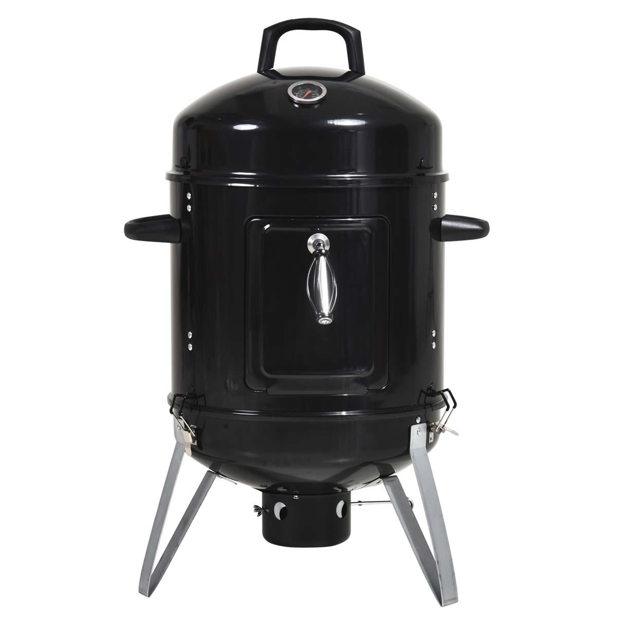 Outsunny 3 in 1 Charcoal Smoker BBQ Grill