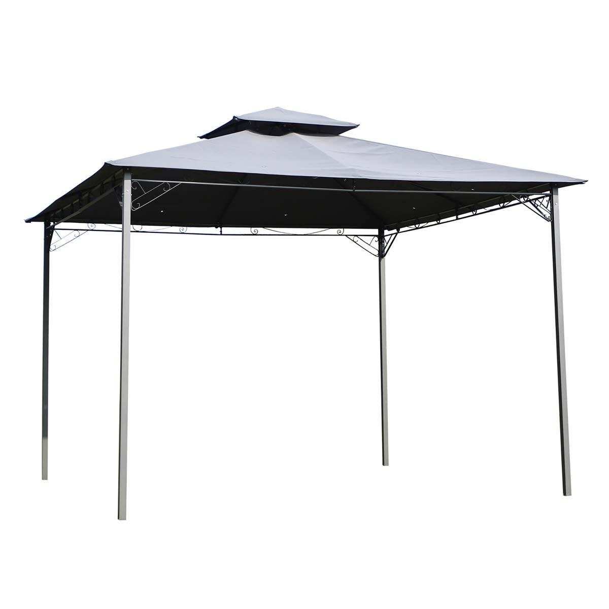 Outsunny 3 x 3m Outdoor Gazebo Shelter - Grey