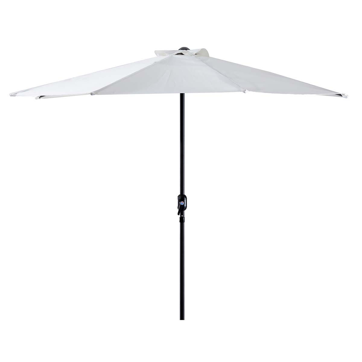 Outsunny 3m Half Round Parasol (base not included) - White