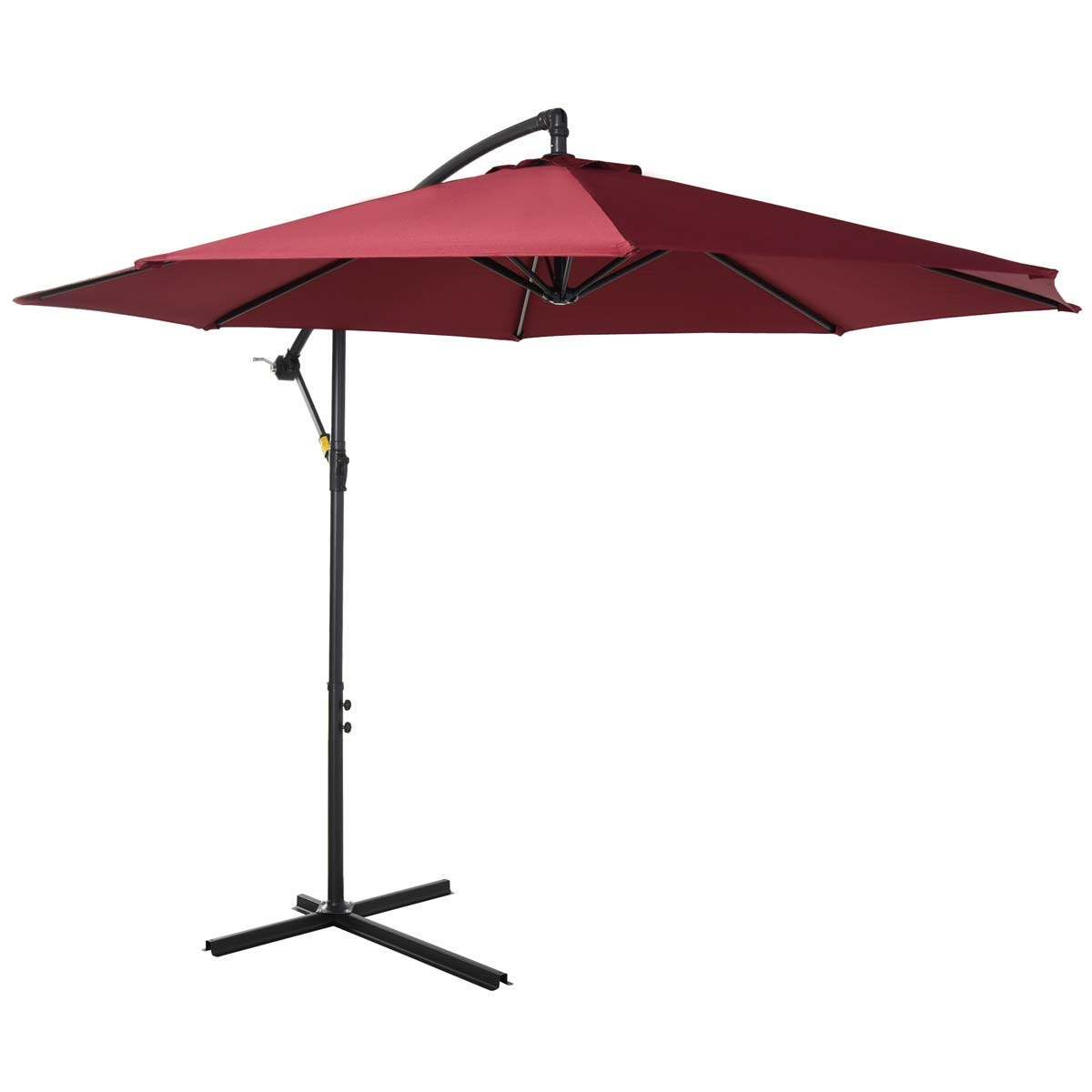 Outsunny 3m Banana Cantilever Parasol (base not included) - Red