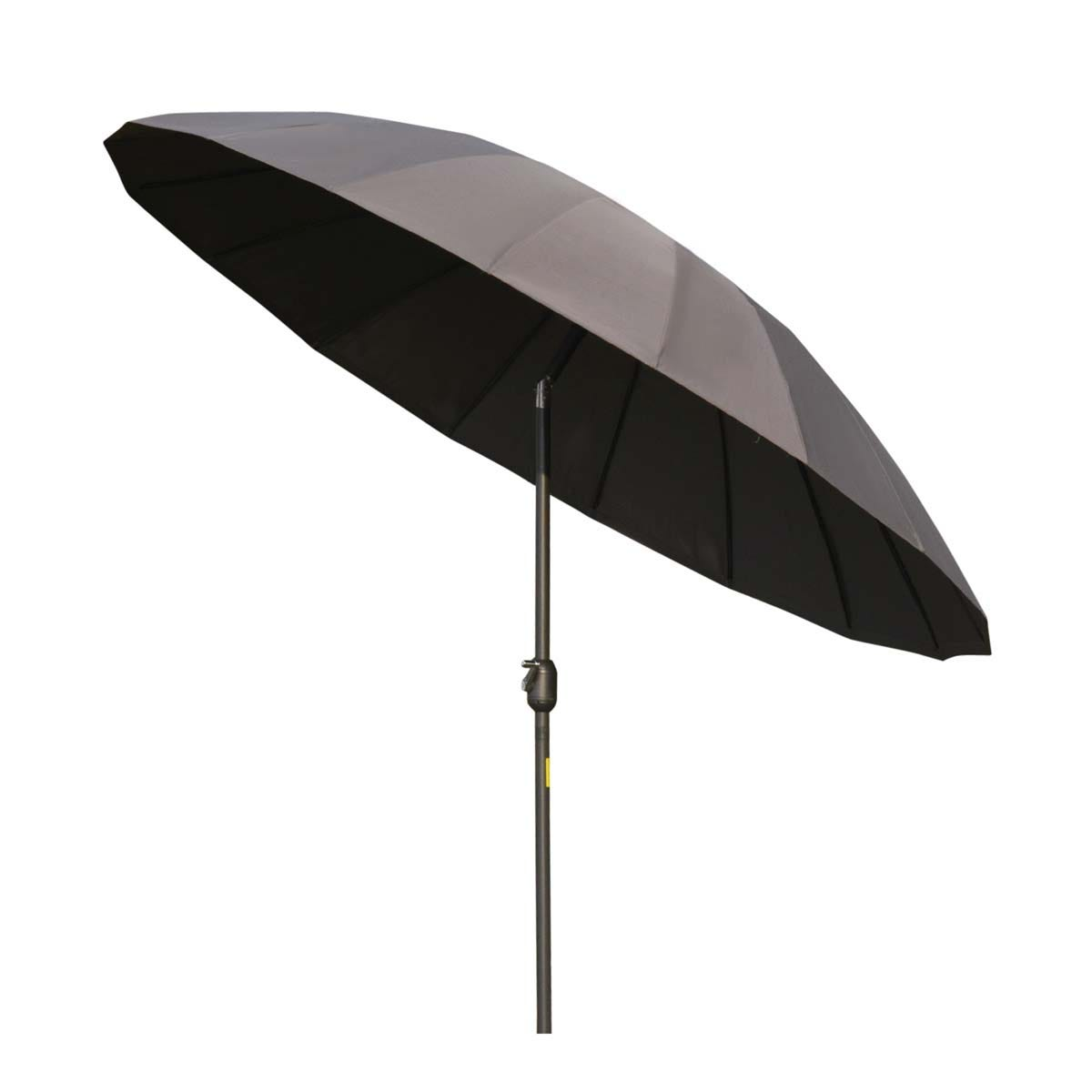 Outsunny 2.4m Round Parasol (base not included) - Grey