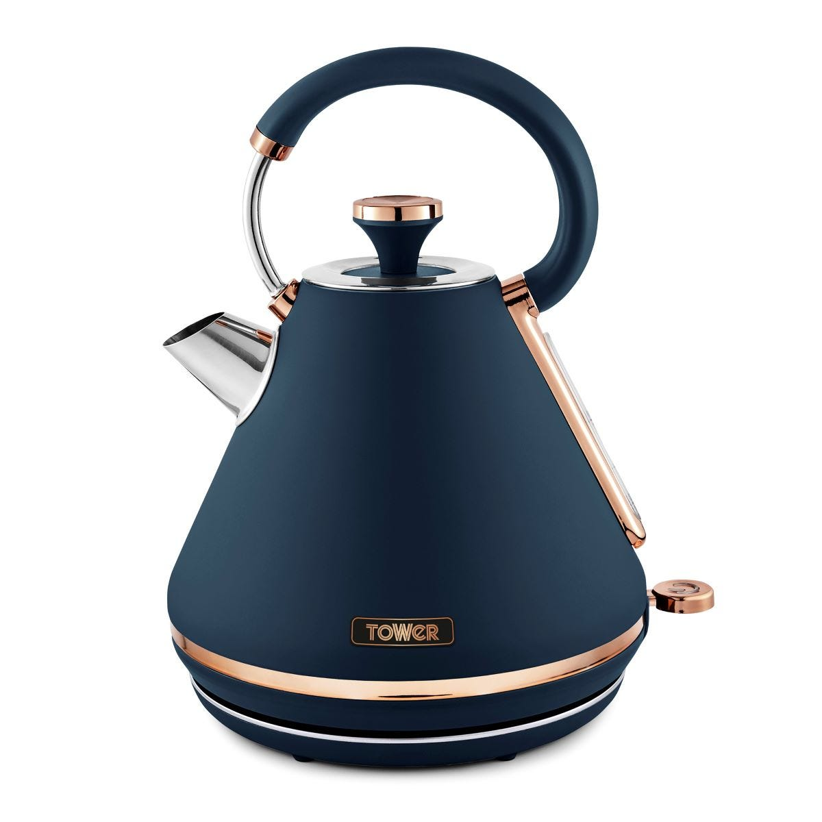 Tower T10044MNB Cavaletto 3KW 1.7L Pyramid Kettle - Blue and Rose Gold