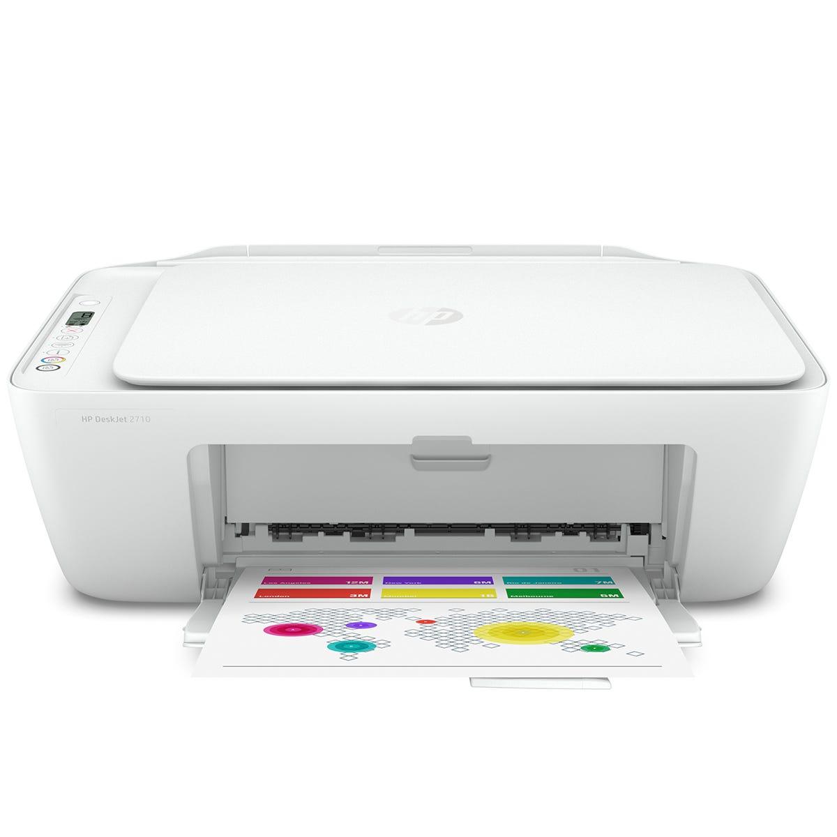 HP Deskjet 2710 Wireless All-in-One Printer - White