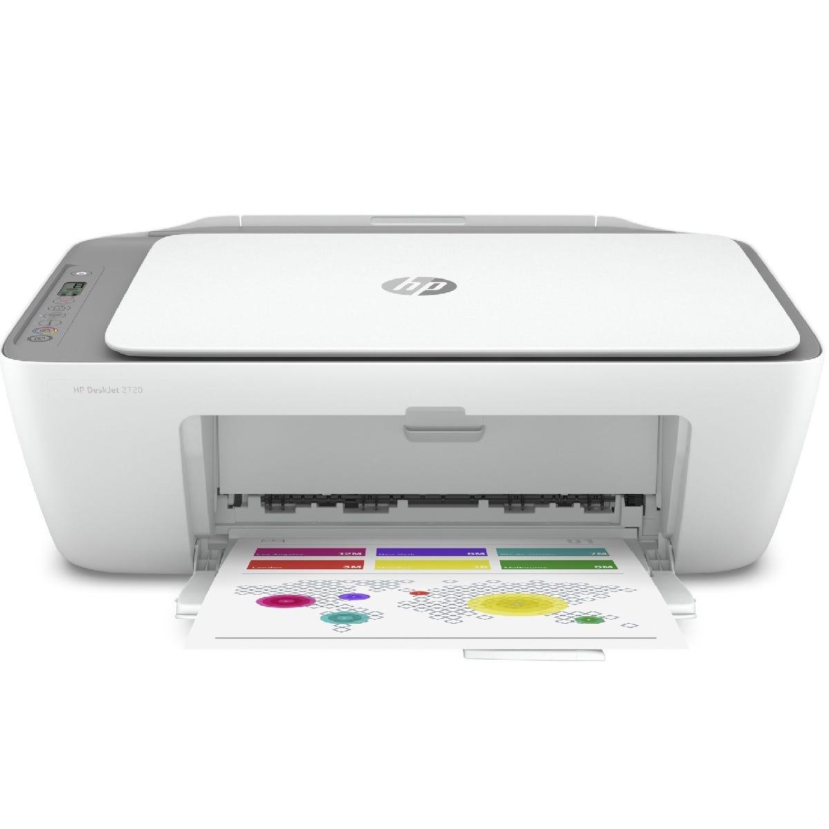 HP Deskjet 2720e Wireless All-in-One Printer - Cement Grey/White