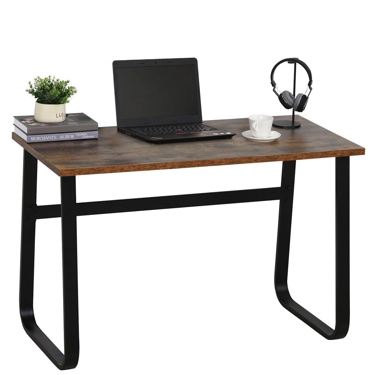 Industrial Home Office Desk Metal Legs