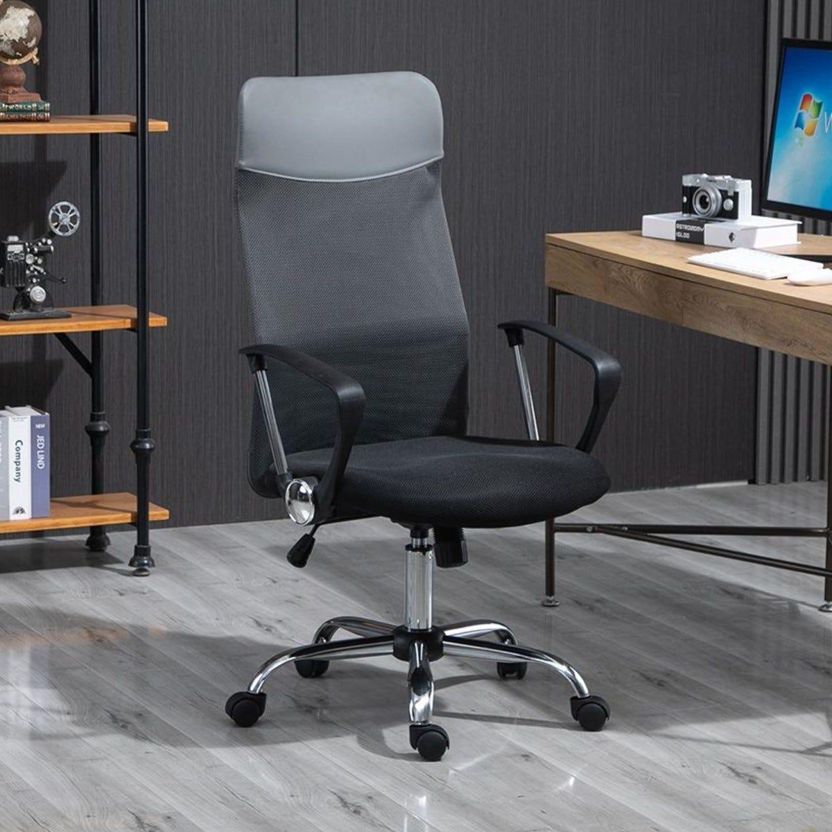 Executive Office Chair High Back Mesh Grey