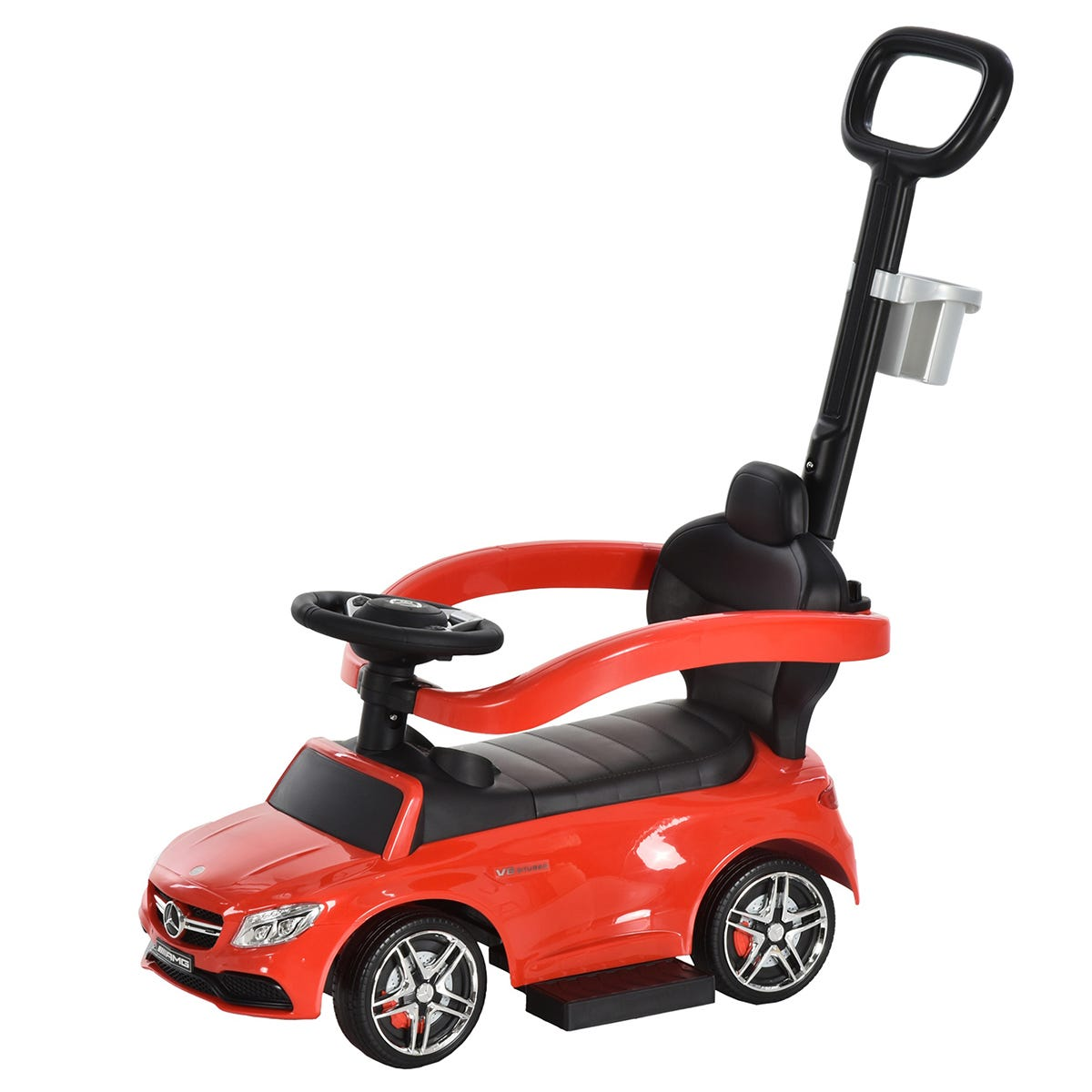 Reiten Kids Mercedes-Benz Ride-On Stroller Car with Storage - Red