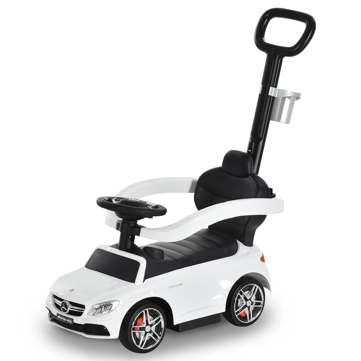 Reiten Kids Mercedes-Benz Ride-On Stroller Car with Storage - White
