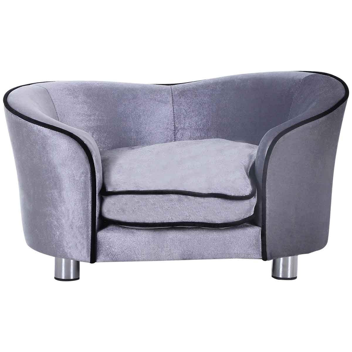 PawHut Elevated Pet Sofa Bed - Grey