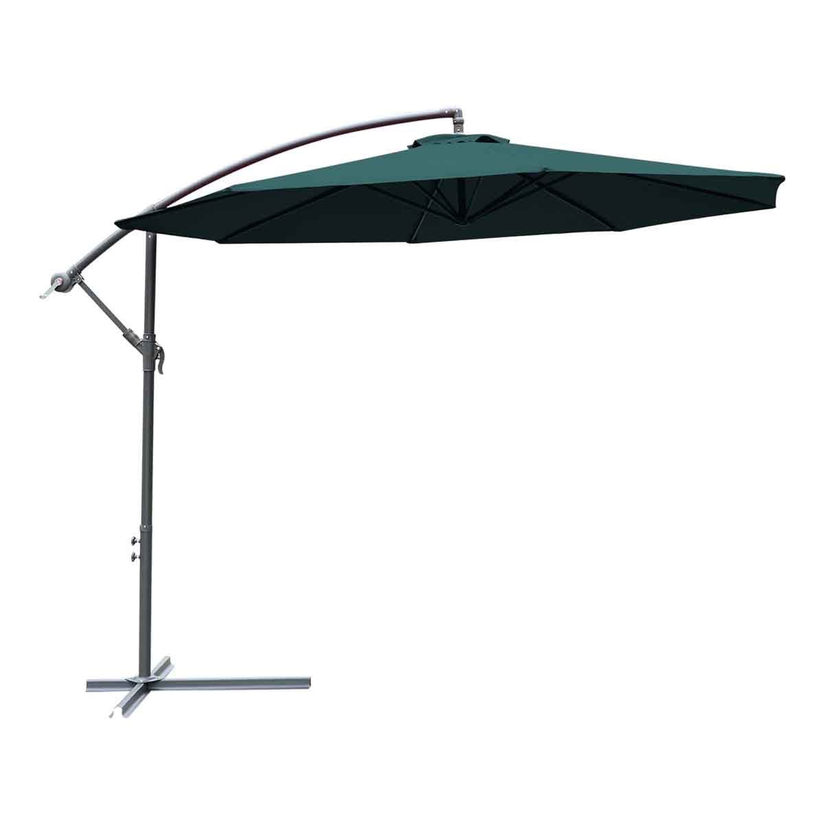 Outsunny 3m Banana Cantilever Parasol (base not included) - Green