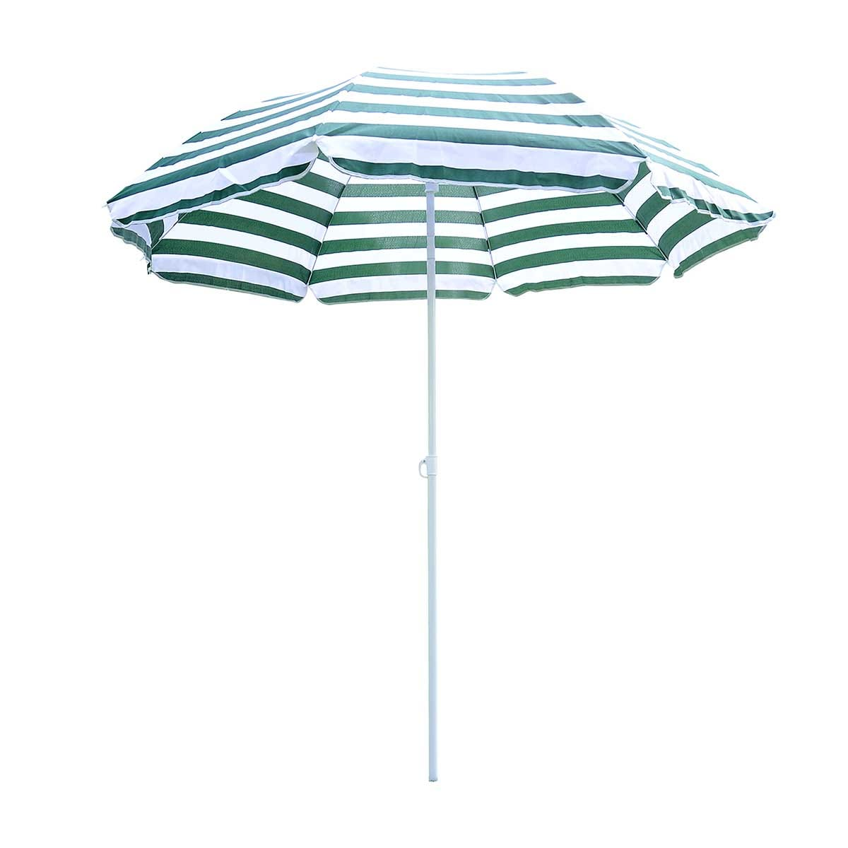 Outsunny Striped Outdoor Parasol Umbrella (base not included)