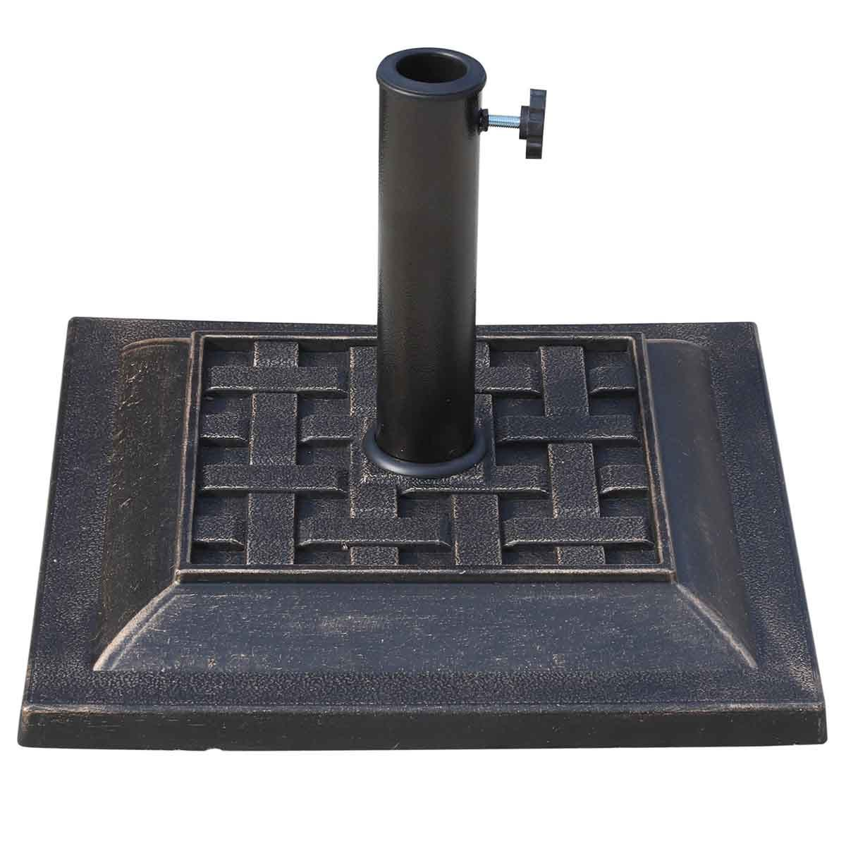 Outsunny 9kg Parasol Base - Bronze