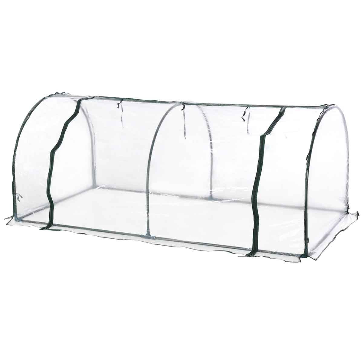 Outsunny PVC 1 x 2m Tunnel Greenhouse with Steel Frame